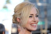 Charlotte Sullivan Dons Twisted Bun to 'The Kennedys' Premiere