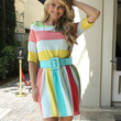 Christie Brinkley Print Dress