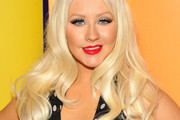 Christina Aguilera Dons Long Curls to 2011 NBC Upfront Event