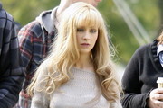 Christina Aguilera Long Curls with Bangs