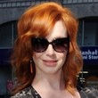 Christina Hendricks Medium Layered Cut