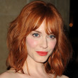 Christina Hendricks Hair - Medium Straight Cut with Bangs