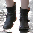 Dakota Fanning Shoes - Flat Boots