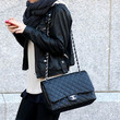 Dakota Fanning Quilted Leather Bag