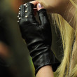 Dakota Fanning Studded Gloves