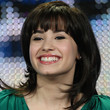 Demi Lovato Hair - Medium Wavy Cut with Bangs
