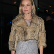 Diane Kruger Clothes - Fur Coat