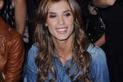 Elisabetta Canalis Dons Long Curls to DSquared2 Fashion Show