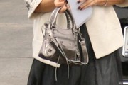 Eliza Dushku Metallic Purse