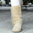 Elle Fanning Shoes - Sheepskin Boots