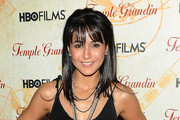 Emmanuelle Chriqui Medium Straight Cut with Bangs