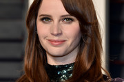 Felicity Jones Shoulder Length Hairstyles