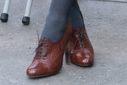 Georgie Henley High Heel Oxfords