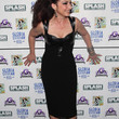 Gloria Estefan Leather Dress