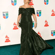 Gloria Estefan Clothes - Off-the-Shoulder Dress