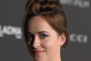 Dakota Johnson Messy Updo