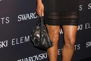 Halle Berry Leather Shoulder Bag