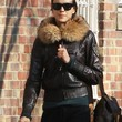 Irina Shayk Leather Jacket