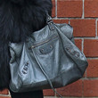 Irina Shayk Leather Shoulder Bag