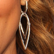 Jamie-Lynn Sigler Jewelry - Dangling Diamond Earrings