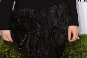 Jennette McCurdy Wears a Feathered Mini Skirt