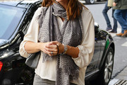 Jennifer Garner Patterned Scarf