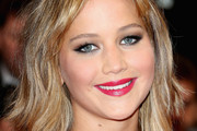 Jennifer Lawrence Medium Wavy Cut with Bangs