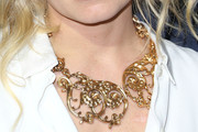 Jennifer Morrison Gold Statement Necklace