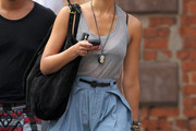 Jessica Alba Suede Shoulder Bag