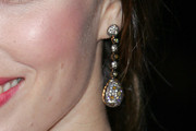 Jessica Biel Dangling Diamond Earrings