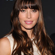 Jessica Biel Long Wavy Cut with Bangs