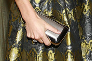 Jessica Biel Metallic Clutch
