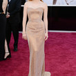 Jessica Chastain Clothes - Strapless Dress