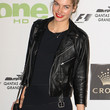 Jessica Hart Clothes - Leather Jacket