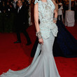 Jessica Stam Mermaid Gown