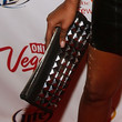 Jessica White Studded Clutch