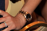 Jordana Brewster Gold Bracelet Watch