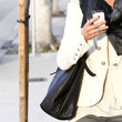 Julianne Hough Leather Shoulder Bag