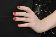 Juno Temple Red Nail Polish