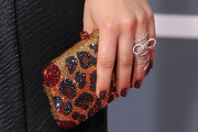 Kaley Cuoco Gemstone Inlaid Clutch