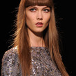 Karlie Kloss Hair - Long Straight Cut with Bangs