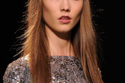 Karlie Kloss Long Straight Cut with Bangs