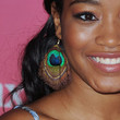Keke Palmer Feathered Earring