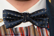 Kevin McHale Does Geek-Chic In a Polka-dot Bowtie