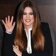 Khloe Kardashian Hair - Long Center Part