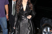 Kim Kardashian Leather Coat