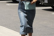 Kourtney Kardashian Denim Skirt