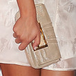 Lea Michele Leather Clutch
