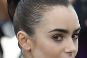 Lily Collins Updos