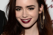 Lily Collins Long Straight Cut